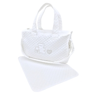 R40 QUILTED BAG WITH CHANGING TOWEL 43x30x15 cm