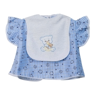BIB WITH SLEEVES EMBROIDERED TERRY 100%COTTON 30x35 CM