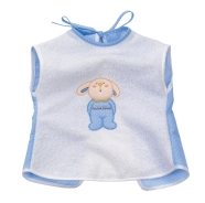 BIB EMBROIDED TERRY 100% COTTON 30x35 CM