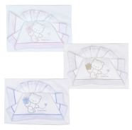 D54 EMBROIDERED CRADLE SHEET+ FITTED+PILLOW CASE 100% COTTON 110x80 - 96x50 - 37x28 cm