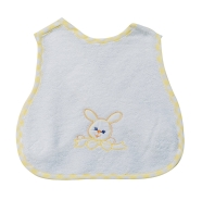 BIB WITH SLEEVES EMBROIDERED TERRY 100% COTTON 30x35 CM