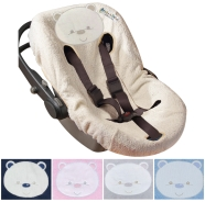 COVER BABY CAPSULE 5 HOLES SPONGE 100% COTTON WITH HOLES FOR LIFE BELTS