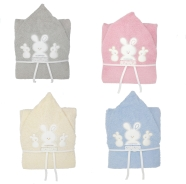 R79 PONCHO BATHROBE TERRY 100% COTTON SIZE 1/3 YEARS
