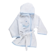 BATHROBE WITH SLEEVES TERRY 100% COTTON SiZE  1/2 YEARS