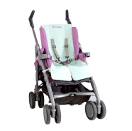 PADDED COVER STROLLER TERRY 100% COTTON WITH HOLES FOR LIFEBELTS