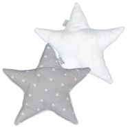 MULTI-PURPOSE PADDED CUSHION WITH STARS FANTASY AND FUR 100% POLIESTERE