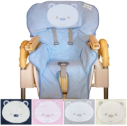 PAPPA HIGHCHAIR EMBROIDERED SPONGE 100% COTTON WITH HOLES FOR LIFE BELTS