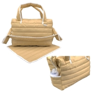 QUILTED BAG WITH CHANGING TOWEL 40x36 cm