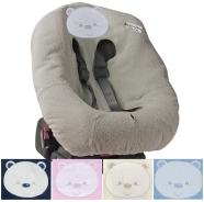 COVER CAR SEAT MAXI EMBROIDER SPONGE 100% COTTON WITH HOLES FOR LIFE BELTS