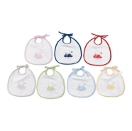 BABY BIB MIDDLE SIZE TERRY 100% COTTON 20x25 cm