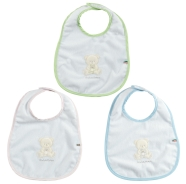 BABY BIB MIDDLE SIZE TERRY 100% COTTON WITH TPU 20x25 cm