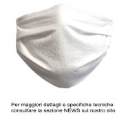 MASCHERINA DI PROTEZIONE VISO RIUTILIZZABILE LAVABILE A 95\' STERILIZZABILE 125\'+ ELASTICO