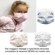MASCHERINA PROTEZIONE BABY POIS 2-10 ANNI LAVABILE A 95\' STERILIZZABILE 125\'+ ELASTICO