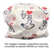 MASCHERINA PROTEZIONE LOVE BABY 2-10 ANNI- LAVABILE A 95\' STERILIZZABILE 125\'+ ELASTICO