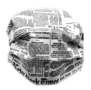 MASCHERINA PROTEZIONE JOURNAL NY RIUTILIZZABILE LAVABILE 95\' STERILIZZABILE 125\'+ ELASTICO