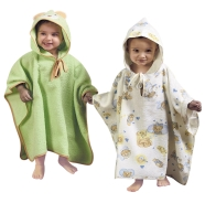 PONCHO BATHROBE TERRY 100% COTTON SIZE 1/3 YEARS