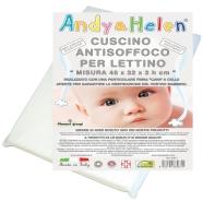 CUSCINO LETTINO ANTISOFFOCO MISURA 45x32x3h cm