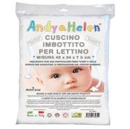 CUSCINO LETTINO IMBOTTITO ANTIBATTERICO ANALLERGICO IGNIFUGO - MISURE 36x50x7h cm