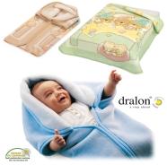 SACCO BABY MULTIFUNZIONE IN DRALON STAMPE COLORI CHIARI MISURA 80x90 cm MADE IN CEE
