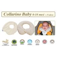 COLLARINO BABY IN PULA DI FARRO BIOLOGICA TG.S 0-18 MESI +FODERA COTONE NATURALE