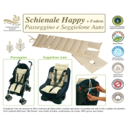 BACKREST Happy+CASE STROLLER AND CARSEAT INTERNAL IN SPELT