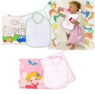 KINDERGARTEN SET 4 PCS FANTASY - T.AIDA BABY SAC + BIB+TOWEL