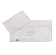 R31 TWIN SET  1+1 (BIG+LITTLE) CHENILLE AND TERRY 100% COTTON 75X48 - 37.5X30 cm