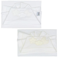 D40 EMBROIDERED CRADLE SHEET+ FITTED+PILLOW CASE 100% COTTON 100x80-80x130-37x28 cm