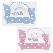 D59 BED SHEET+FITTED+PILLOW CASE 100% COTTON EMBROIDERED 111x165-150x100-57x38cm